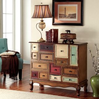 Furniture of America Cirque Vintage Style Multi-colored Chest - Overstock™ Shopping - Great Deals on Furniture of America Coffee, Sofa & End Tables