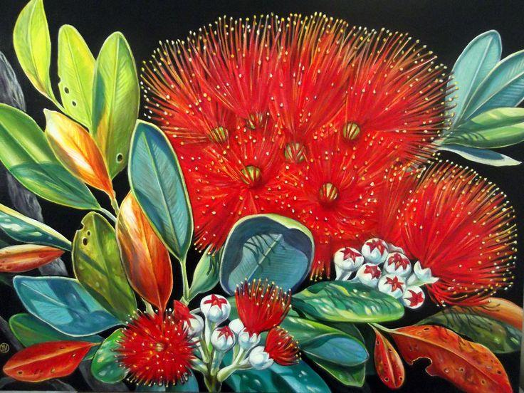 """""""Summer Red""""- Pohutukawa flower. New Zealand"""