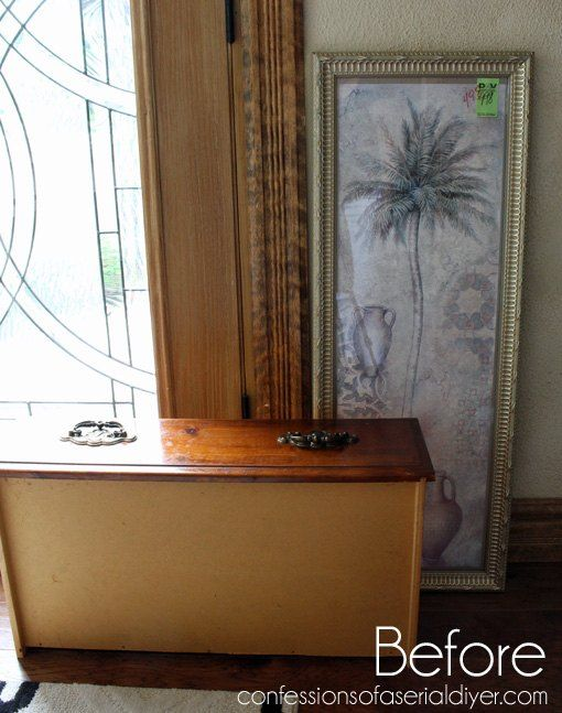 Repurposed Frame and Drawer to Perfect organizer