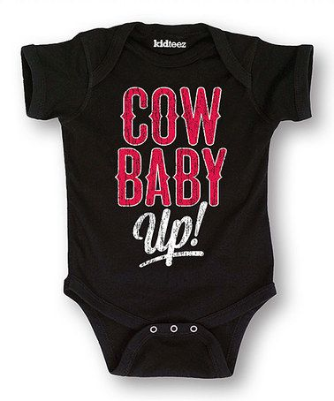 This Black 'Cow Baby Up' Bodysuit - Infant is perfect! #zulilyfinds