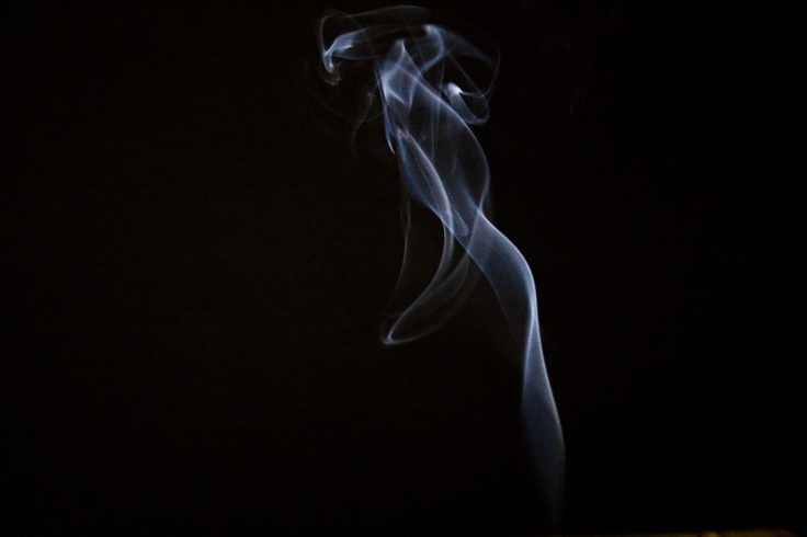 Another picture of smoke.  Side lit with LED lights.  Focal length is 46mm, f5.6, ISO 1600, Exposure 1/125.