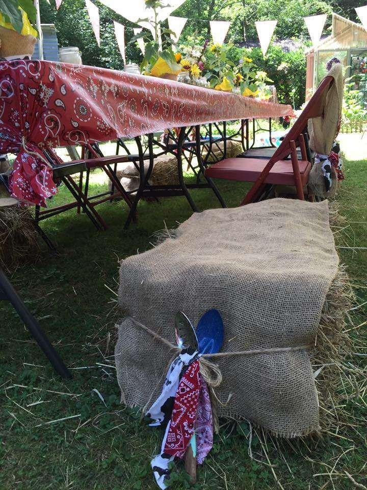 Jackson's 'Down on the Farm' 1st Birthday Party | CatchMyParty.com