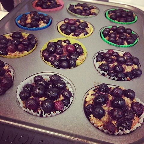 Breakfast Blueberry Oatmeal Cakes from Eating Well on http://www ...