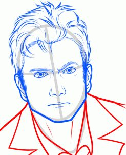 How to Draw David Tennant, Doctor Who, Tenth Doctor, Step by Step, Stars, People, FREE Online Drawing Tutorial, Added by Dawn, April 15, 2013, 4:57:59 pm