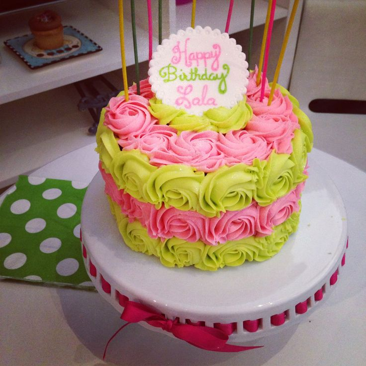Birthday Rosette Cake Ombr Style By Goodie Girls Goodie Girls