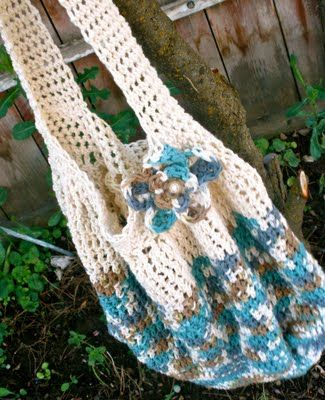 Things to Make: Free Crochet Hobo Bag Pattern: Hobo Bag Patterns, Free Pattern, Crochet Bags, Free Crochet, Crochet Hobo Bag, Crochet Patterns, Crochet Purse, Hobo Bags, Fortunate Handmade