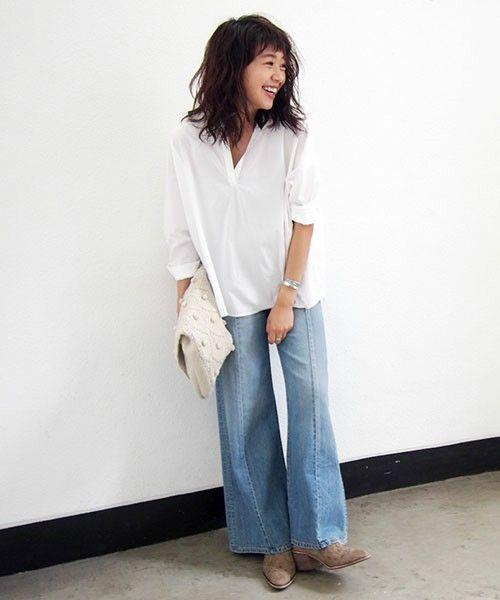 【Cl】コットンスキッパーシャツ(シャツ/ブラウス)|Ungrid(アングリッド)のファッション通販 - ZOZOTOWN