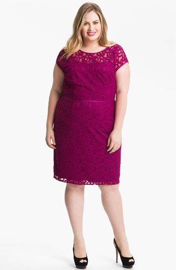 Adrianna Papell Soutache Illusion Bodice Dress (Plus) available at #Nordstrom