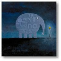 Elephant of Indecision -med by Tony Cribb - prints