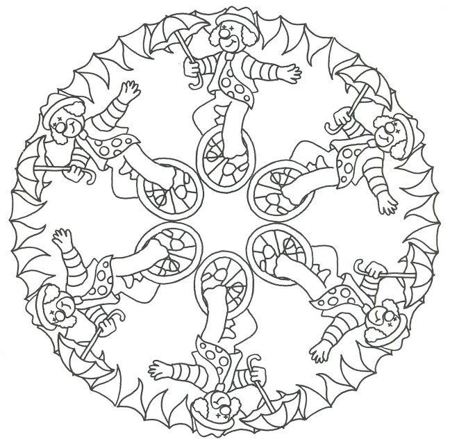 * Mandala: Clowntjes!