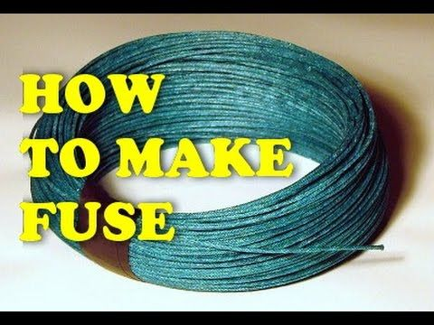 How to make fuse for firecracker at home - YouTube