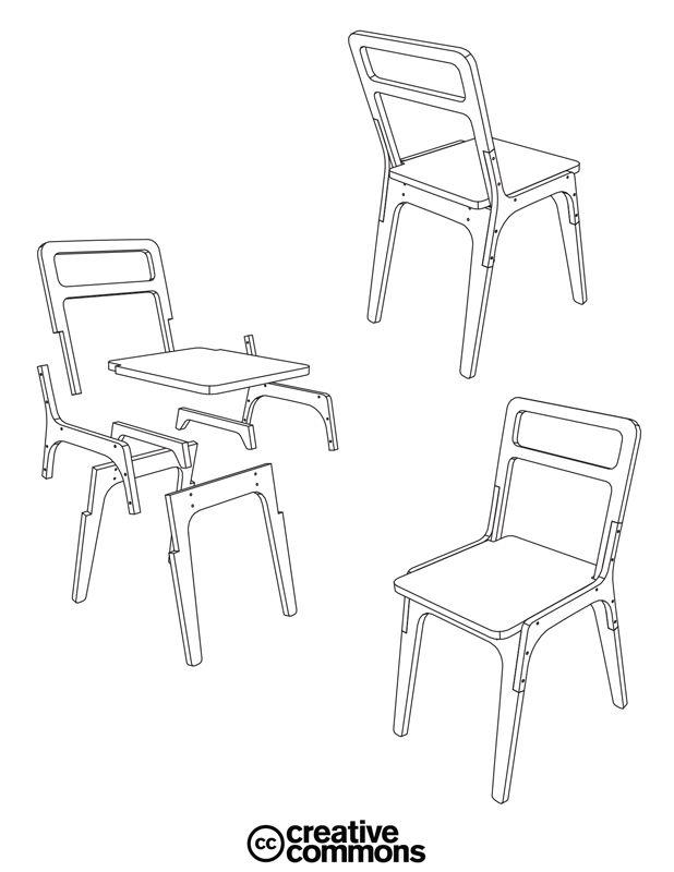 pachek Slim Chair #cnc #plywood