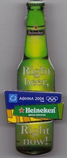 HEINEKEN BOTTLE GRAND SPONSOR ATHENS 2004 OLYMPIC GAMES PINS (Greek)