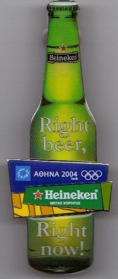 HEINEKEN BOTTLE GRAND SPONSOR ATHENS 2004 OLYMPIC GAMES PINS (Greek)