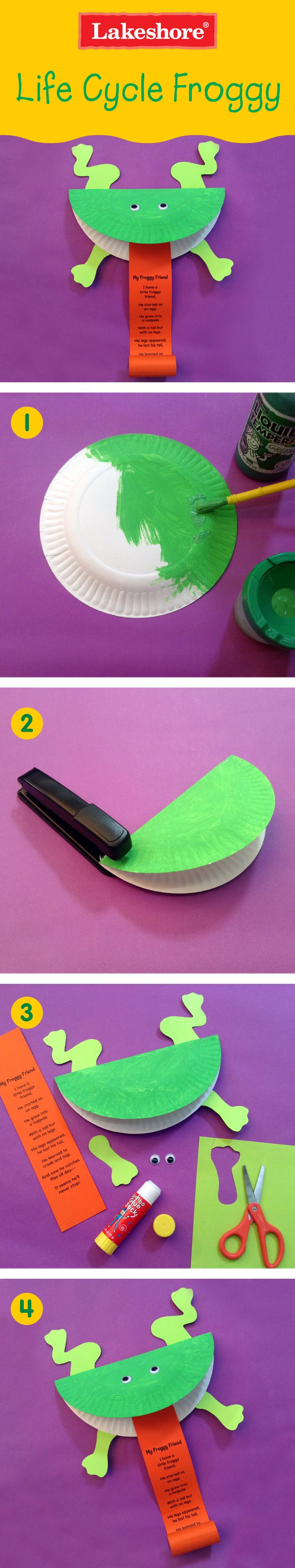Leap into life-cycle study with this fun-to-make frog!