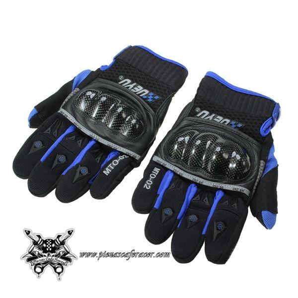 Guantes para Moto MOBILE FRIENDLY Modelo con Protecciones de Plástico Color Negro/Azul - 33,41€ - ENVÍO GRATUITO EN TODOS LOS PEDIDOS