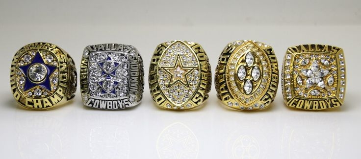 One Set 5 PCS 1971 1977 1992 1993 1995 Dallas Cowboys super bowl rings 11s high quality solid back