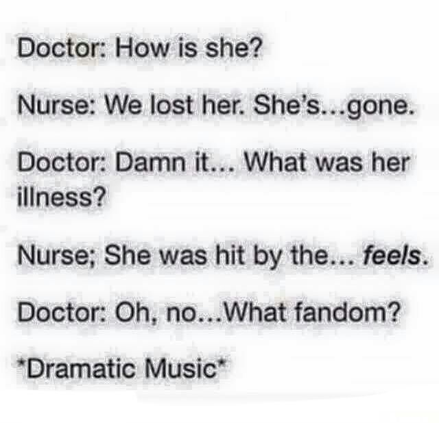 Imagine if it was 'The' Doctor asking that xD I read it that way let me know if other Whovians did too
