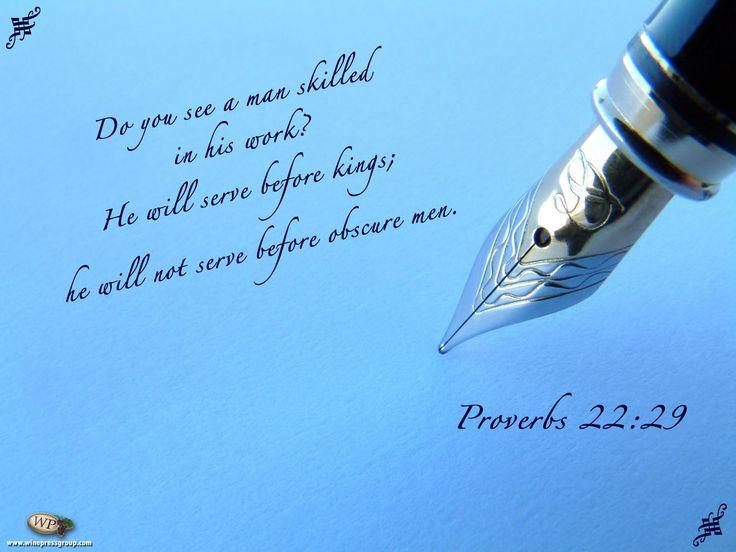 Prov. 22:29