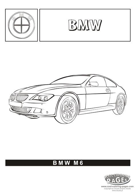 bmw m6 cars coloring pages