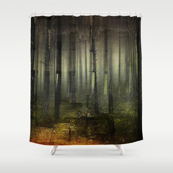 Why am I here Shower Curtain by HappyMelvin. #nature #darkforest #forests #original #homdecor #showercurtain #bathroom