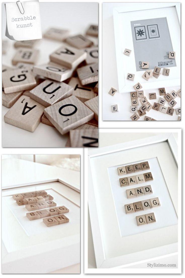 Scrabble kunst | Voor wooninspiratie | Kijk je in mijn huis