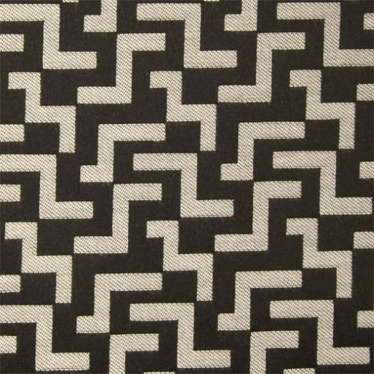 Zigzag Fabric A geometric zigzag pattern in black and white.