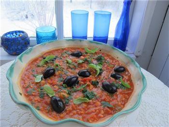 läcker vegetarisk veganrecept pastasås