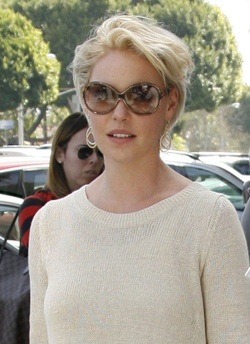 Super Short Gray Hairstyles | blond and new short haircut! Here's Katherine Heigl (formerly Grey ...
