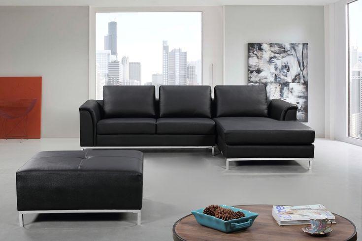VELAGO - OLLON Leather Sectional Sofa (L)