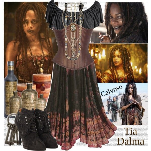 Tia Dalma...Calypso by marianna-merien on Polyvore featuring polyvore, fashion, style, Givenchy, 1928, Tarina Tarantino, Pier 1 Imports, INC International Concepts, ankle cuff shoes and pirates of the caribbean