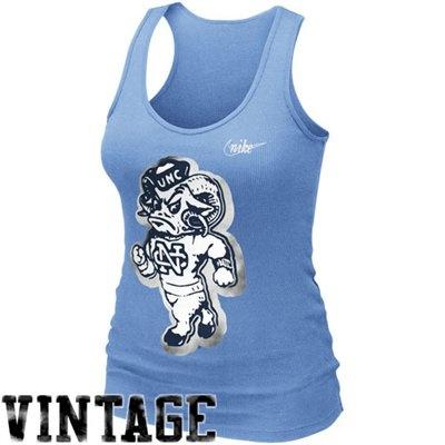 Nike North Carolina Tar Heels (UNC) Ladies Retro Rib Tank Top - Carolina Blue