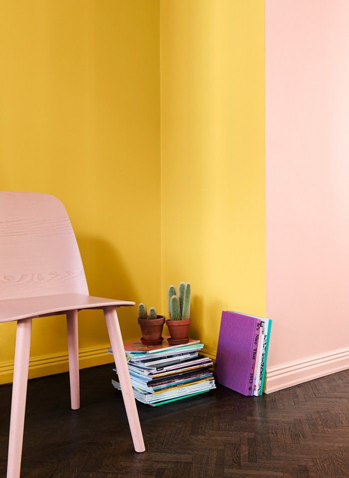 måla, väggfärg, två färger