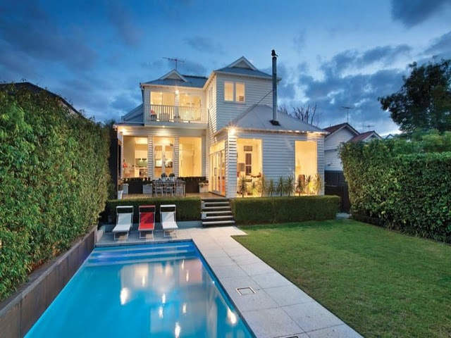 Rear view of Australian home:  love this elevation