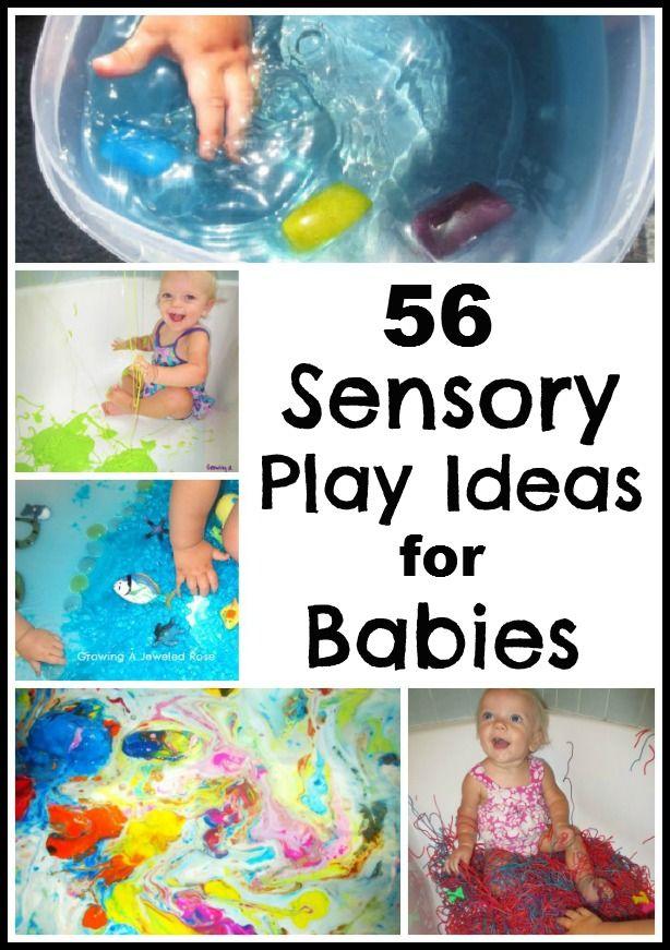 56 Sensory Play Ideas for Babies!