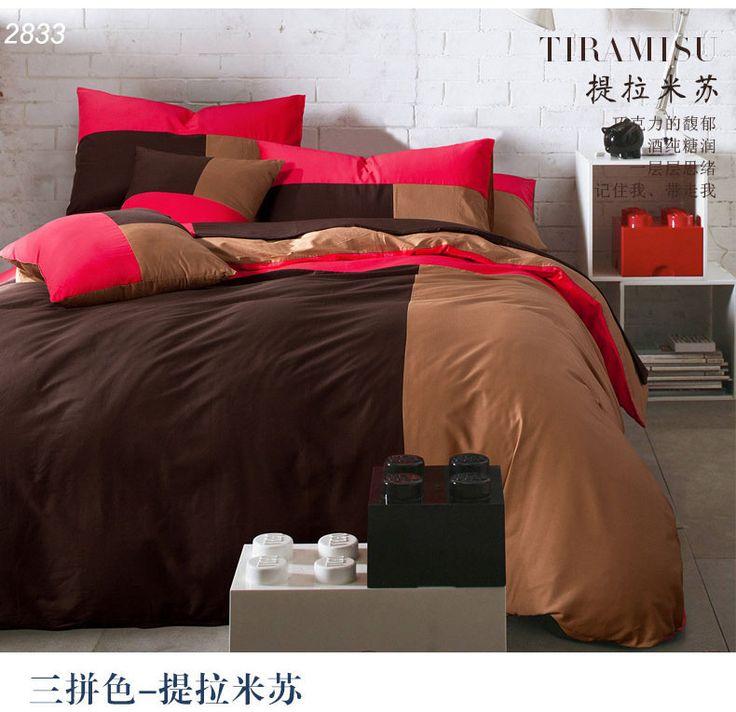 les 25 meilleures id es de la cat gorie couvre lit rouge sur pinterest literie rouge et noir. Black Bedroom Furniture Sets. Home Design Ideas