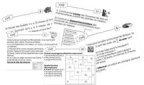 100 problèmes de maths (tous domaines et auto-correctifs !) pour occuper les plus rapides !