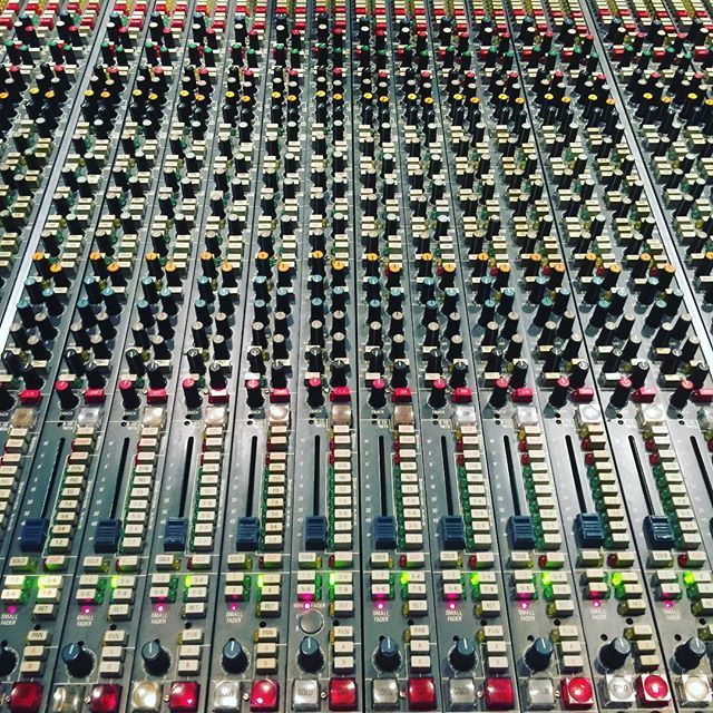 Channel section of our @ams_neve VR 60 Analog Console in Studio A! #omega #studios #school #audio #engineering #analog #console
