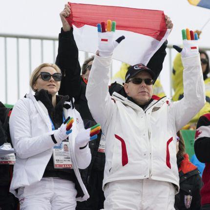 Le Couple princier à la cérémonie d'ouverture des Jeux Olympiques d'hiver à Sotchi
