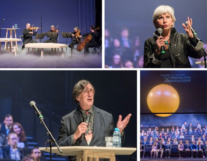 LE THEATRE DES NEGOCIATIONS - A political, diplomatic, scientific, pedagogical and artistic experiment took place in May 2015 at Nanterre-Amandiers. Théâtre des Négociations was conceived by SPEAP (Programme d'expérimentation en art politique de Sciences Po), around Bruno Latour, the make it work-team at SciencePo and implemented by Philippe Quesne / Nanterre-Amandiers and raumlaborberlin: 200 students from all over the world took part in a simulation of the international conference of…
