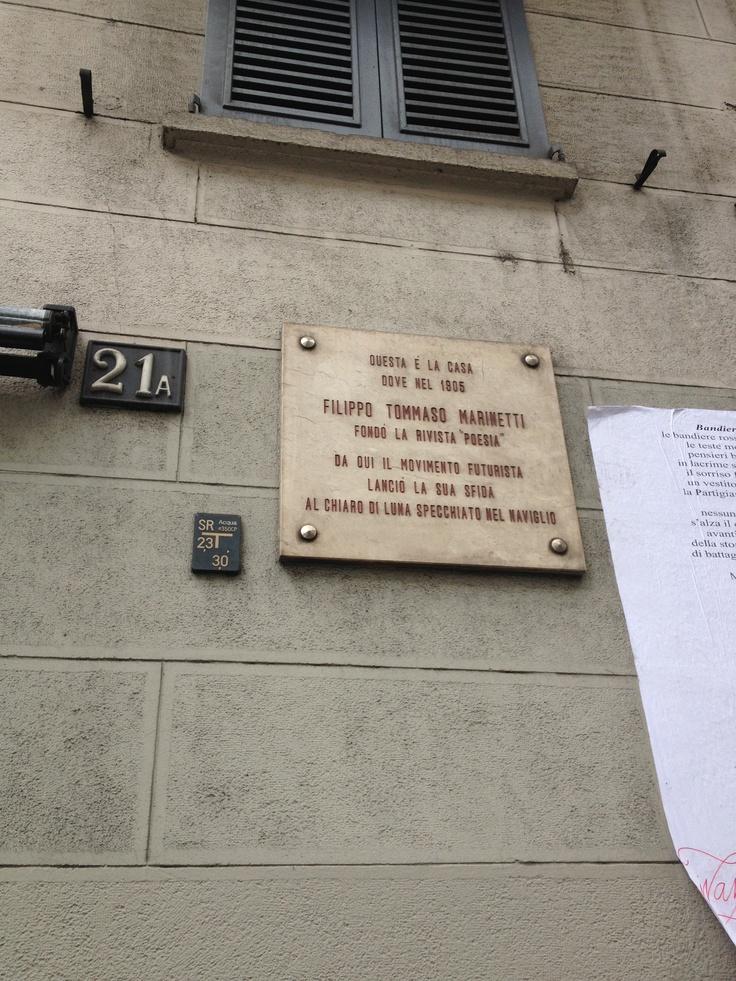 """Dove Filippo Tommaso Marinetti fondò la rivista """"Poesia"""" - Corso Venezia, Milano"""