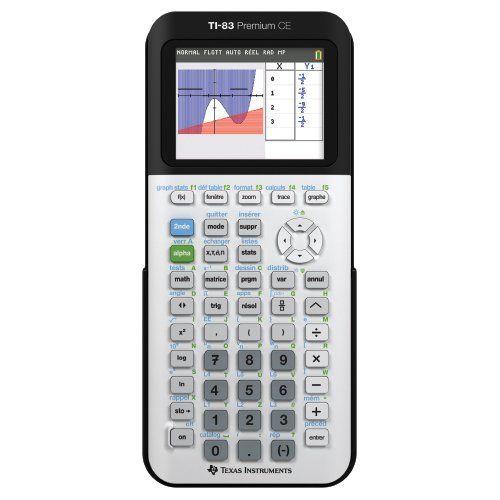 Texas Instruments TI-83 Premium Calculatrice scientifique Blanc/Noir