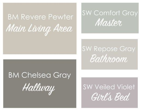 Revere Pewter Coordinating Paint Colors - This Bold Home More