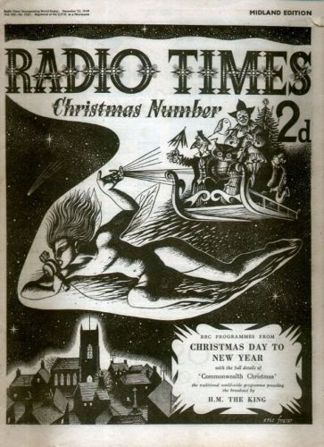 RADIO-TIMES-25-DEC-1949-CHRISTMAS-XMAS-ISSUE-ERIC-FRASER-FRONT-COVER
