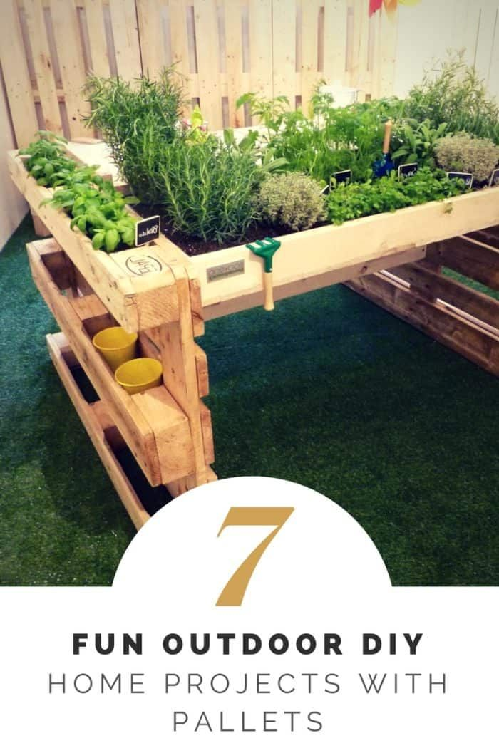 Fun Outdoor Diy Home Projects With Pallets 1001 Pallets In 2020 Pallet Garden Pallets Garden Pallet Outdoor