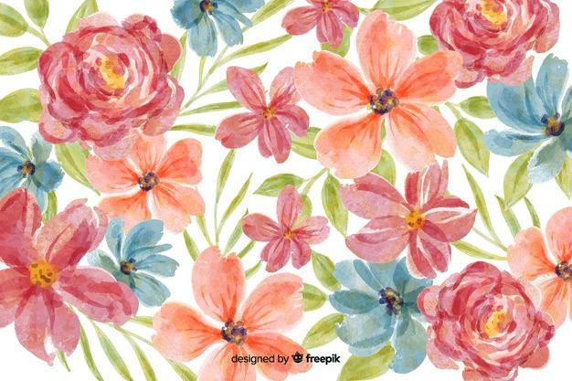 Download Watercolor Floral Pattern Background For Free Floral