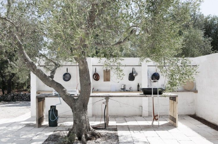 Mediterranean Utilitarian Outdoor Kitchen in Puglia, Gardenista