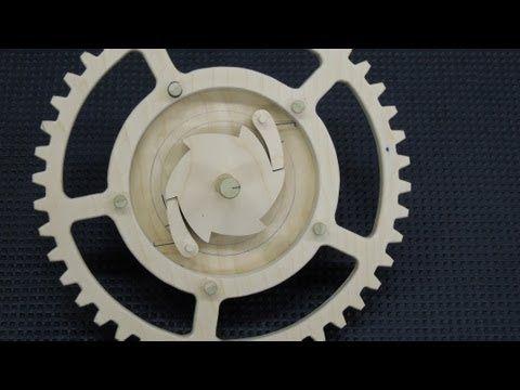 Wood Gear Ratchet - YouTube