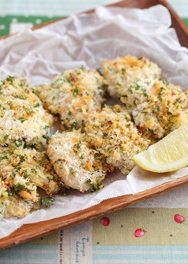 鶏ささみのガーリックパン粉焼き のレシピ・作り方 │ABCクッキングスタジオのレシピ | 料理教室・スクールならABCクッキングスタジオ