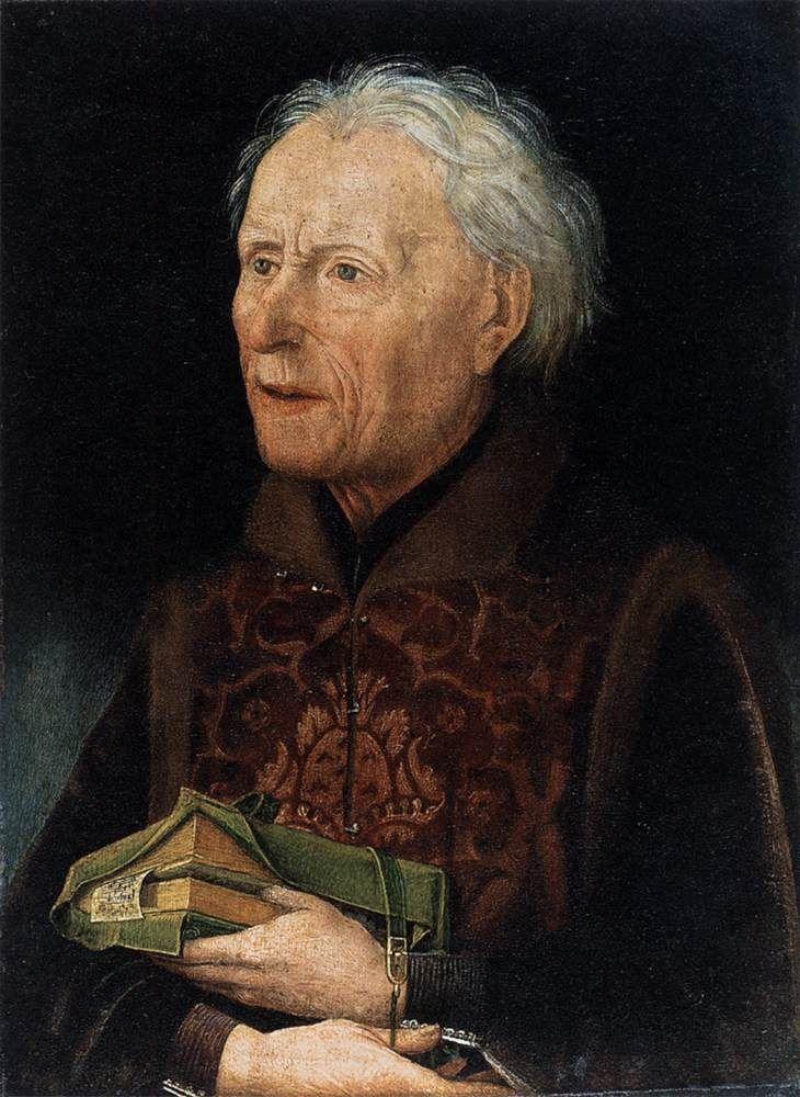 Count Georg von Löwenstein (right wing)  c. 1457, Hans Pleydenwurf, Nuremberg; Distemper on wood, 31 x 23 cm  Germanisches Nationalmuseum, Nuremberg